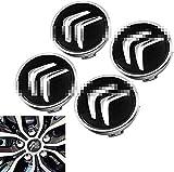 4x Capuchon Central De Moyeu de Roue de Voiture, pour Citroens C1 C2 C3 C4 C5 C6 C8 C4L DS3 DS5, Logo de Capuchons de Centre de Roue, DéCoration de Couvercle D'éCrou, Accessoires de Style de Voiture