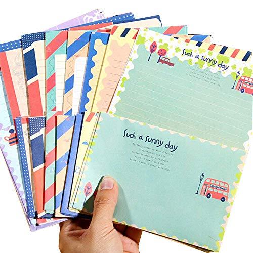 8種類 レトロ風 レターセット 封筒 レターセット 便箋 半透明 箔押し おしゃれ お祝い 感謝祭 可愛い デザイン 封筒付 ギフト カード 手書きで誕生日