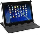 StilGut UltraSlim Hülle V2, Tasche mit Stand- & Präsentationsfunktion passend für Samsung Galaxy Tab 2 10.1, schwarz