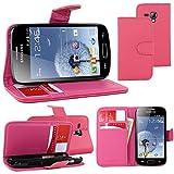 ebestStar - Funda Compatible con Samsung Galaxy Trend S7560, S Duos S7562 Carcasa Cartera Cuero PU, Funda Billetera Ranuras Tarjeta, Función Soporte, Rosa [Aparato: 121.5 x 63.1 x 10.5mm, 4.0'']