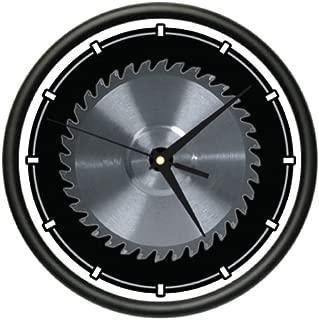 SignMission Circular Wall Clock Carpenter Tools Saw Blade Horror Gag Gift, Beagle
