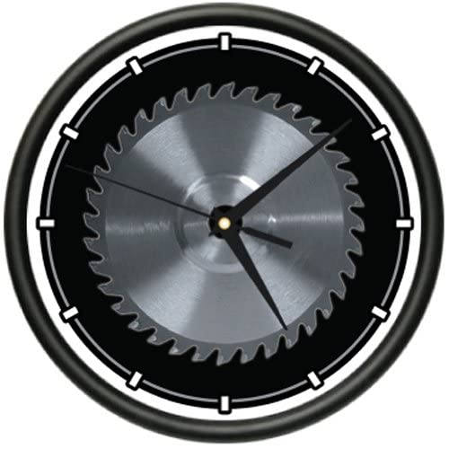 Amazon.com: CIRCULAR SAW BLADE Wall Clock carpenter tools saw blade horror gag gift: Home & Kitchen