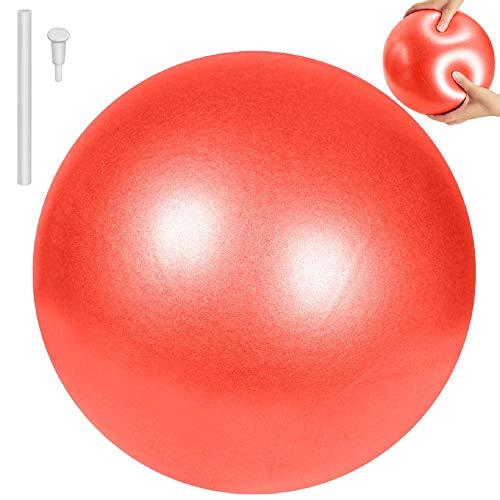 Tuopuda Pelota de Ejercicio para Fitness-Pequeño Fitness Pelota de Ejercicio,Balones de Ejercicio Pelota de Equilibrio para Yoga Fitness Pilates Deportes Gimnasio 25 cm (Rojo)