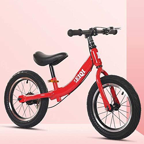 SHARESUN Balance Bike 14 Zoll, Für 3-7 Jahre Mädchen Und Jungen Trainings Fahrrad Ohne Pedale Leichte Rad Adjustable Seat Mit Bremsen,Rot