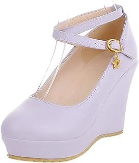 VulusValas Women Fashion Wedge Heel Shoes Platform