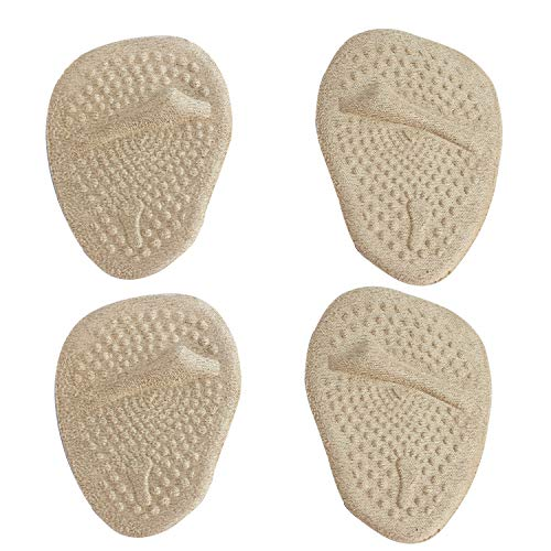 MASMAS 2 Pares Almohadillas Antideslizantes y Metatarsales, Plantillas de Gel Suaves para Aliviar el Dolor del Antepie, para Zapatos con Tacón Alto