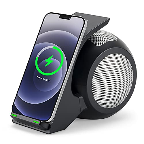 CENSHI iPhone Docking Station With Speaker and Wireless Charger