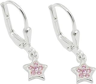 Echt  925 Sterling Silber Ohrringe Ohrhänger 45mm Nr 313S