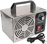 buyaolian Ozonizador,Generador De Ozono Máquina De Ozono Purificador De Aire De Acero Inoxidable Limpiador De Aire Esterilización Limpieza Formaldehído 10G 220V