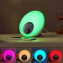 Despertador Inteligente Luz, Sol Cama de simulación del Amanecer Reloj con Alarma, Manos Libres Bluetooth Noche de sueño Relojes de lámparas