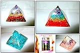 Jet International Exquisito Cuatro (4) Rainbow RCA Feroza Chakra Layer Pyramid 1 Cada Mejor Oferta Folleto Gratis Terapia de Cristal Piedras Preciosas de Cristal Cobre Metal UPS Envío Acelerado