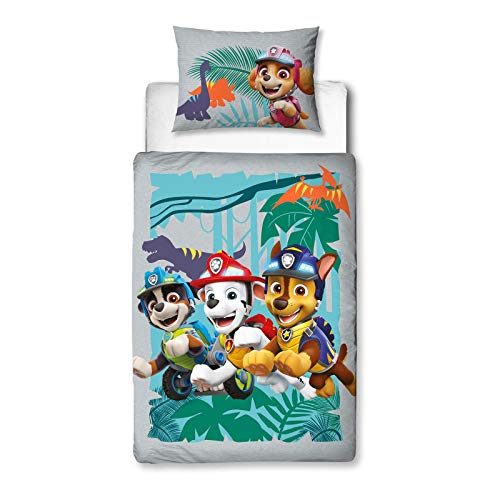 Character World Paw Patrol Dino 4 in 1 Junior Bedding Bundle Set (Duvet, Pillow and Covers)