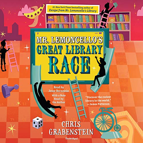 Mr. Lemoncello's Great Library Race                   By:                                                                                                                                 Chris Grabenstein                               Narrated by:                                                                                                                                 Jesse Bernstein,                                                                                        Chris Grabenstein                      Length: 6 hrs and 46 mins     109 ratings     Overall 4.7