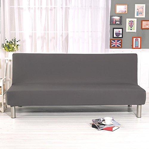 iBaste sofabezug senza braccioli copridivano elastico Stretch divano ecoclass divano Cover Protector senza braccioli Grau