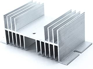 Mecion Silver Tone Aluminum Heat Sink Heatsink SSR Dissipation for Single Phase Solid State Relay 10A-100A