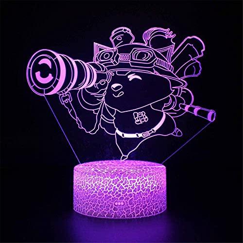 Teemo 3D LED noche lámpara táctil lámpara LED mesa escritorio lámpara decoración luz con control remoto para niños Navidad Halloween cumpleaños