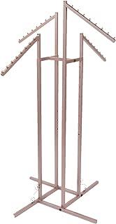 SSWBasics 4 Way Clothing Rack - Rose Gold - Slant Arms