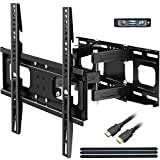 BLUE STONE Full Motion TV Wall Mounts TV Bracket for Most 32-65 Inch Flat Screen TVs, TV Mount with Articulating Dual Arms Tilt Swivel 14' Extend, Wall Mount TV Bracket VESA 400x400mm TV Monitor Mount