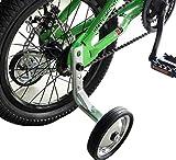 CHILDHOOD Iron Rubber Bike Training Wheels for Kids Girls Boys(14 to 18 inch)