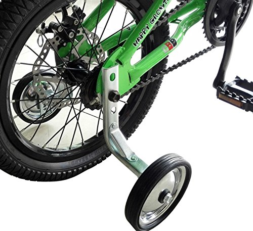 CHILDHOOD Iron Rubber Bike Training Wheels for Kids Girls Boys(14 to 18 inch)
