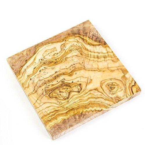 géométrique en forme de carré en bois d'olivier Planche à découper/plateau à fromage
