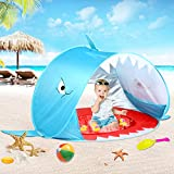 Baby Beach Tent with Pool, Pop Up Beach Play Tents for Kids Toddler or Infant Portable Baby Sun Shelter Tent UV Protection (Blue)