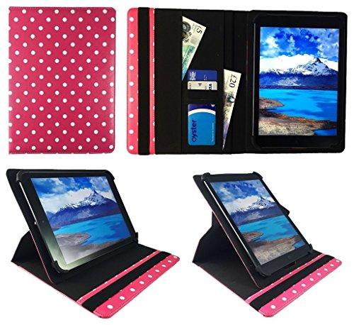 One Tablet Xcellent 10 Windows Rose Punkte Universal 360 Grad Drehung PU Leder Tasche Schutzhülle Case ( 9 - 10 Zoll ) von Sweet Tech