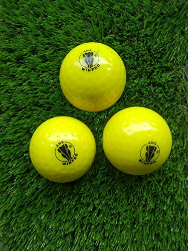 Ans Winpro Hockey Dimple Ball Pack of 3 Color Yellow