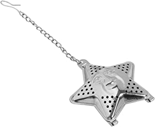 Loose Tea Infuser Cute Leaf Strainer Filter Diffuser Herbal Spice Container Star Chain Stainless Steel