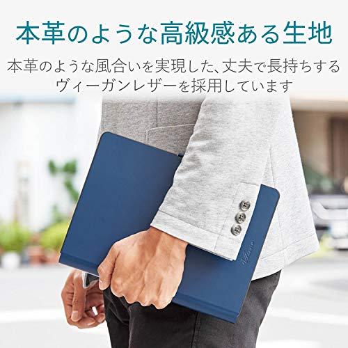 エレコムキーボードBluetoothタブレット汎用ケース一体型8.5~11.1インチ(iPadPro9.7/10.5/11対応)レザーブルーTK-CAP03BU