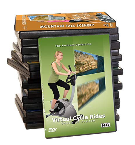 27 Disc Set DVD Supersale Collection - Scenic View Routes in HD for Treadmill Walking Weightloss - Virtual Tour at Home with Nature Sounds