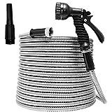TUNHUI 75FT Heavy Duty Flexible Metal Garden Hose Stainless Steel Water Hose...