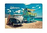 Brisa VW Collection - Volkswagen Furgoneta Hippie Bus T1 Van Placa Metálica, Cartel de Metal para...
