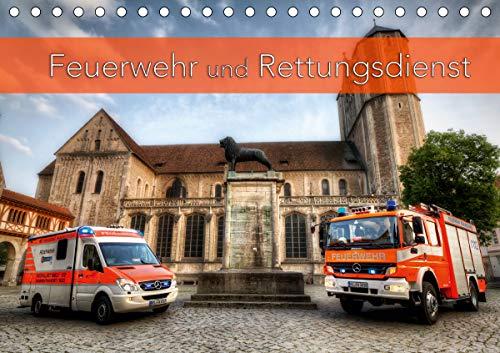 Feuerwehr und Rettungsdienst (Tischkalender 2021 DIN A5 quer)
