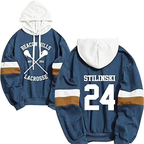 Stilinski 24 Lahey McCall Pullover Felpa Uomo Teen Lupo Stampa Con Cappuccio Unisex, E, L