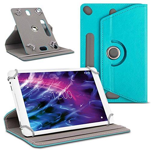 UC-Express Tablet Hülle kompatibel für Medion Lifetab E10711 Tasche Schutzhülle Cover 360° Drehbar, Farbe:Türkis