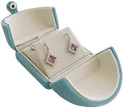 Svea Display Aqua Blue Velvet Jewelry Box Packaging Double Layer Multi Function for Earrings Necklace Fine Presentation Unique Design Premium Quality