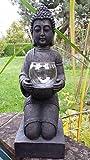 MFF XL Sehr großer Budhha knieend mit Windlicht in den Händen