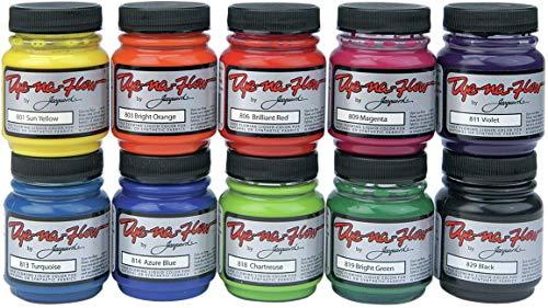Jacquard - JAC801S Dye-Na-Flow Specialty Paint Set, 2.25 Ounces, Assorted Colors, Set of 10