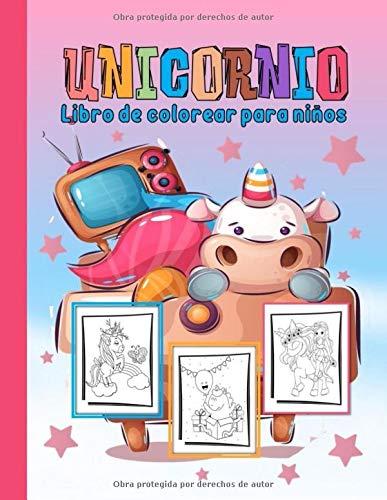 Unicornio libro de colorear para niños: Dibujos Para Colorear para niños A partir de 3 años