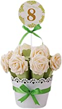 Decorative Candy Box Wedding Party Favor Gift Box-Green Box + Champagne Flower