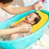 Pepional Baby Badematte, Antirutschkissensitz Für Neugeborene, Schwammschaumauflage Schwimmende Badewannenauflage Für Babys Von 0 Bis 2 Jahren