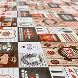 ANRO Wachstuch Tischdecke abwaschbar Wachstuchtischdecke Wachstischdecke BBQ Grill Garten Rot Oval 200x140cm - 8