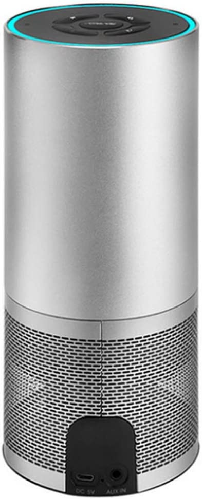 Altavoces Inteligentes Inalámbrico Wi-Fi Bluetooth Estéreo de 360 ° Soporte Alexa Control por Voz Reloj Despertador y Temporizador Integrados 2 Altavoces compatibles con DLNA Airplay AUX-In