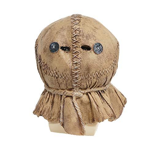 Newgreeny Halloween Maske Latex Vogelscheuche Kopfbedeckung Party Requisiten Vogelscheuche