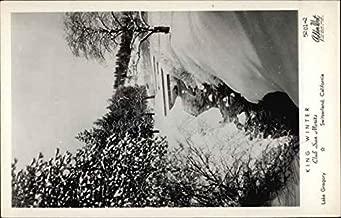 King Winter, Club San Moritz, Lake Gregory, Switerland Crestline, California Original Vintage Postcard