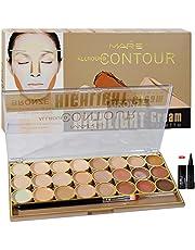 Adbeni Mars All Rpund Contour Bronze Highlight Cream Palette 70g Gift Pack Laperla Kajal, Skin Whitening Cream