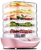 WNN-URG Máquina de deshidratador de alimentos, temporizador digital y control de temperatura, 5 bandejas, for bruscas/carne/carne/fruta/verdura, BPA gratuito / 400 vatios/actualizado WNN-URG