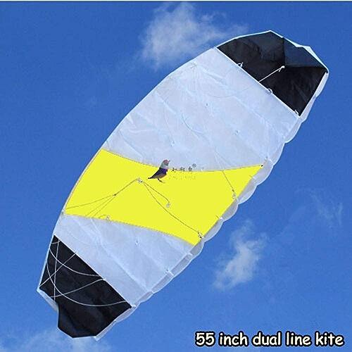 GUNDAN Sports De Plein Air Sports Cerf-Volant Débutant Plage 1,4 Mètres Puissance Double Ligne Cascadeur Parachute Sports Arc-en-Ciel
