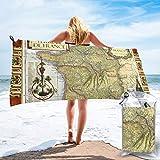 Nonebrand - Toalla de baño de microfibra de secado rápido para viajes, diseño de mapa de Francia en Cgp, ideal para camping, gimnasio, yoga, playa, natación, senderismo